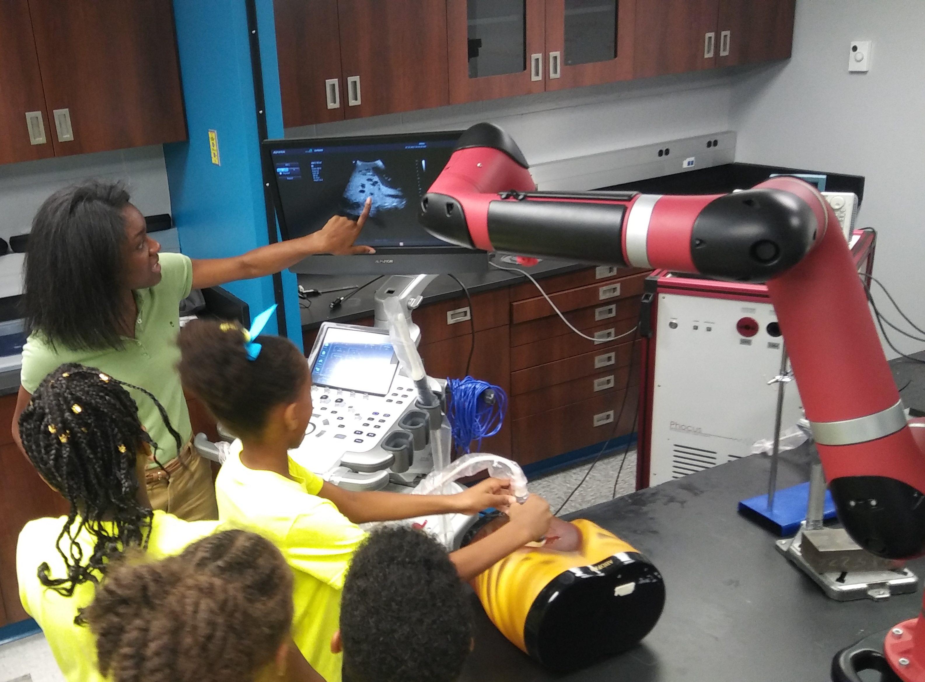 Prof. Bell describes ultrasound imaging basics